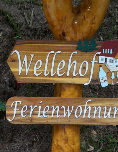 Schild Wellehof